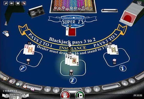 Super 7 Blackjack spielen