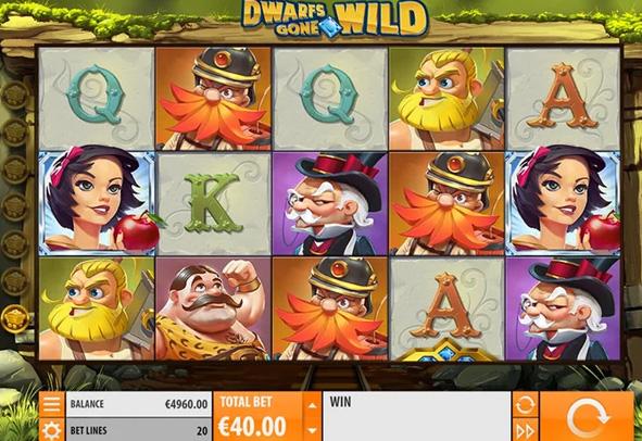 Der Dwarfs Gone Wild Slot als Demo.