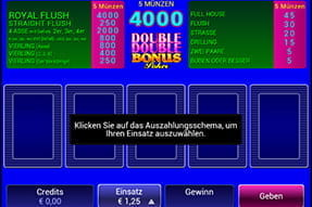 Euro Palace mobile Video Poker Spiele