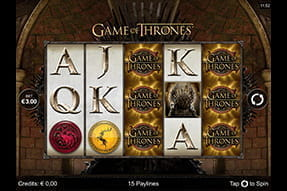 Spielautomat Game of Thrones mit 15 Gewinnlinien beim All Slots Casino