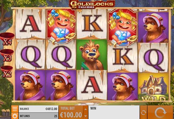 Der Goldilocks Slot als Demo.