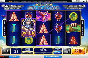 Der mobile King of Olympus Spielautomat mit Jackpot