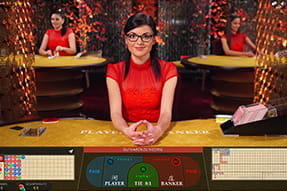 Live Baccarat Squeeze bei Royal Panda