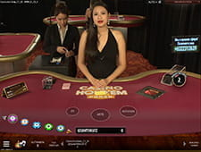 Kleine Preview des Live Casino Hold'em bei Ruby Fortune.