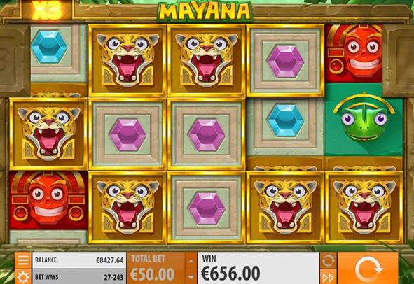 Der Mayana Slot als Demo.