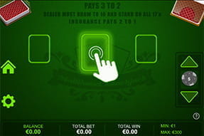 Das Multihand Blackjack vom Softwarehersteller Dragonfish