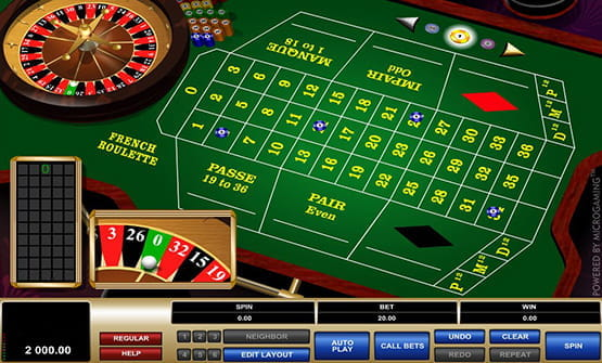 French Roulette von Microgaming im Online Casino.
