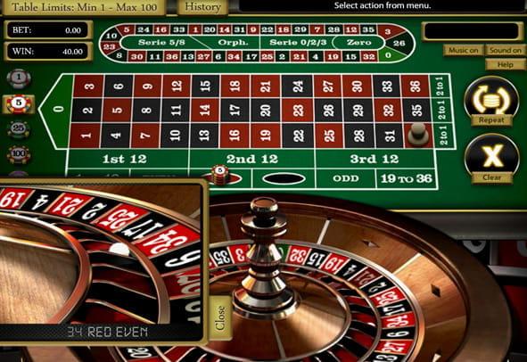 Roulette üben