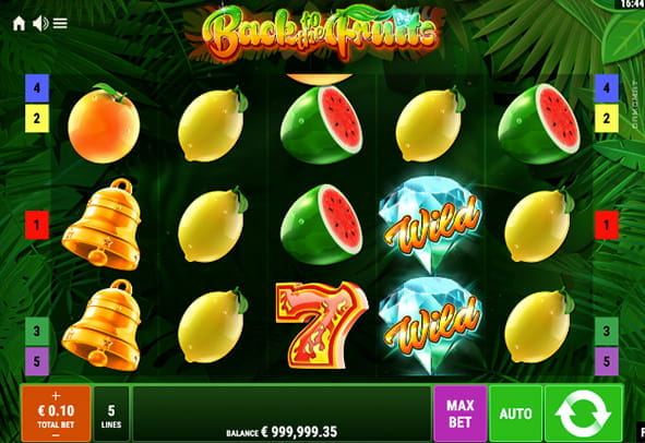 Eine kostenlose Demo-Version des Back to the Fruits Slots.