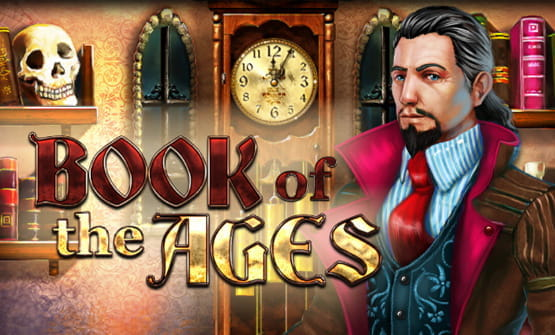 Logo des online Slots Book of the Ages.
