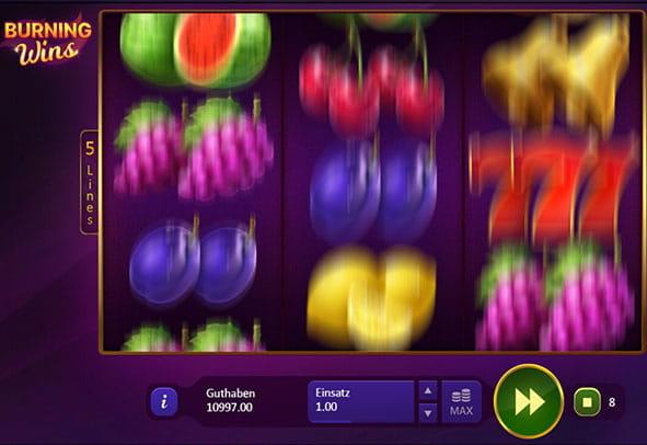Spielen Sie Burning Wins: Classic 5 Lines kostenlos im Demo Mode von Playson