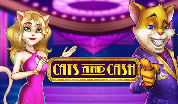Das Logo des Cats and Cash Slots von Play'n GO.