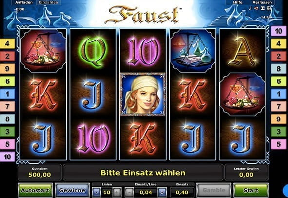 online casino deutschland faust slot machine