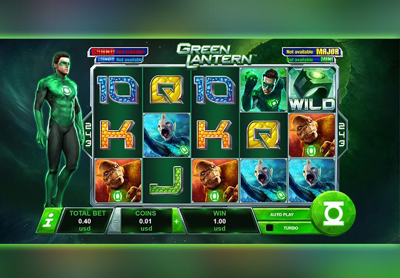 Green Lantern Slot von Playtech