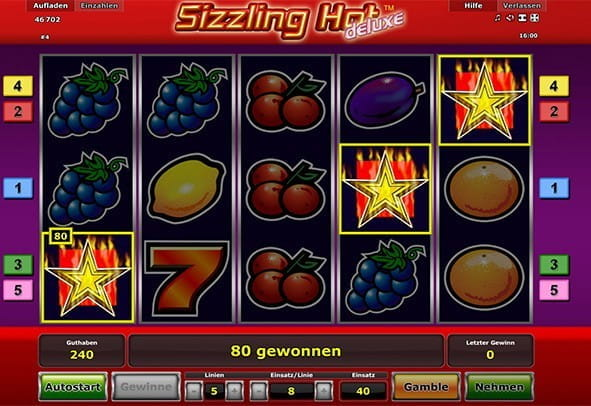 online casino deutschland sizzling hot game