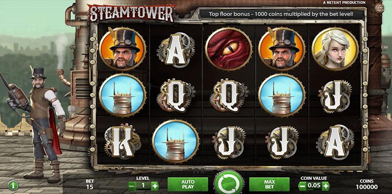 Steam Tower Slot NetEnt RTP Online Terbaik Best