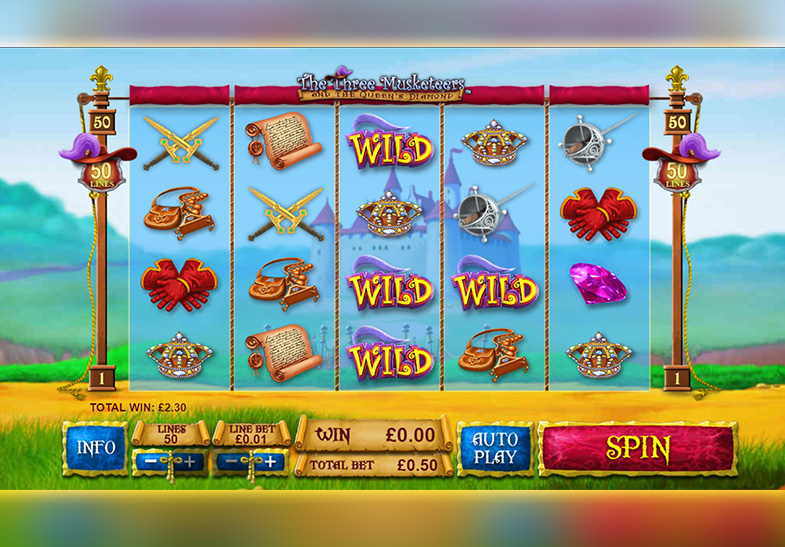 The 3 Musketeers and the Queen's Diamond Slot von Playtech