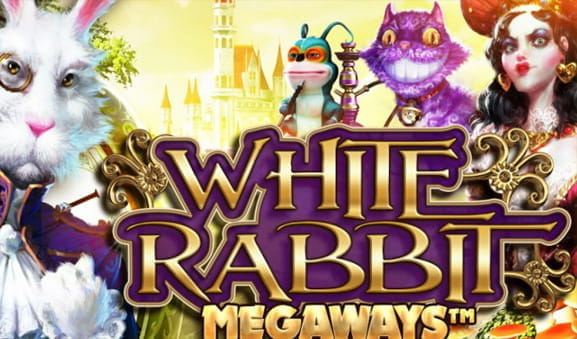 Das Logo des White Rabbit Slots von Big Time Gaming.