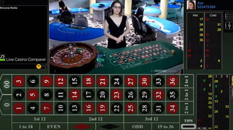 Live American Roulette von Visionary iGaming.