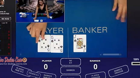 Live Baccarat von Visionary iGaming.