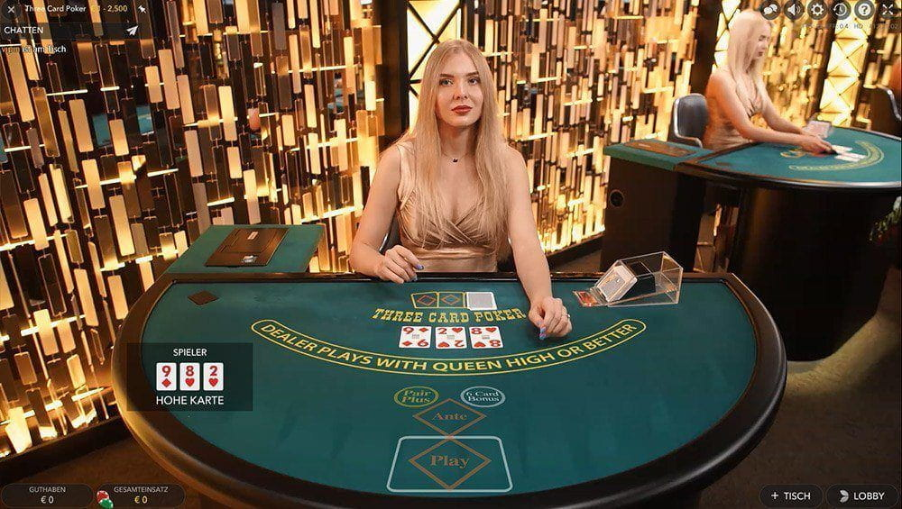 Evolutions Gaming Three Card Poker im Casino Room als großes Bild