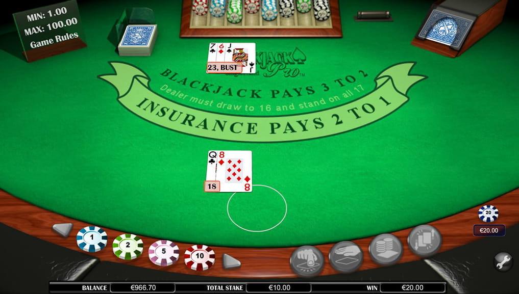 Spiele BlackJack Pro - Video Slots Online