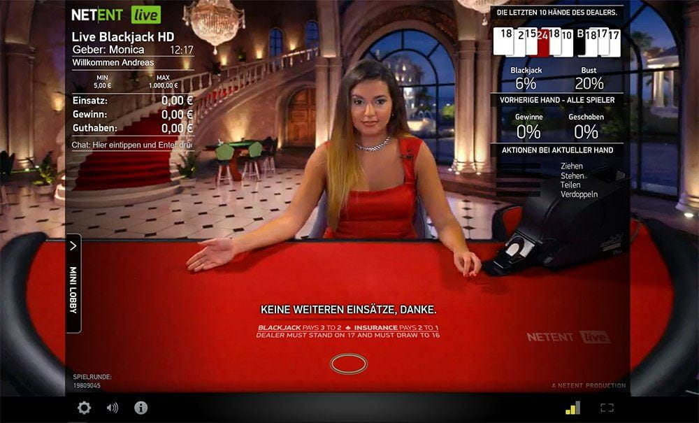 Live Blackjack von Net Entertainment im CherryCasino