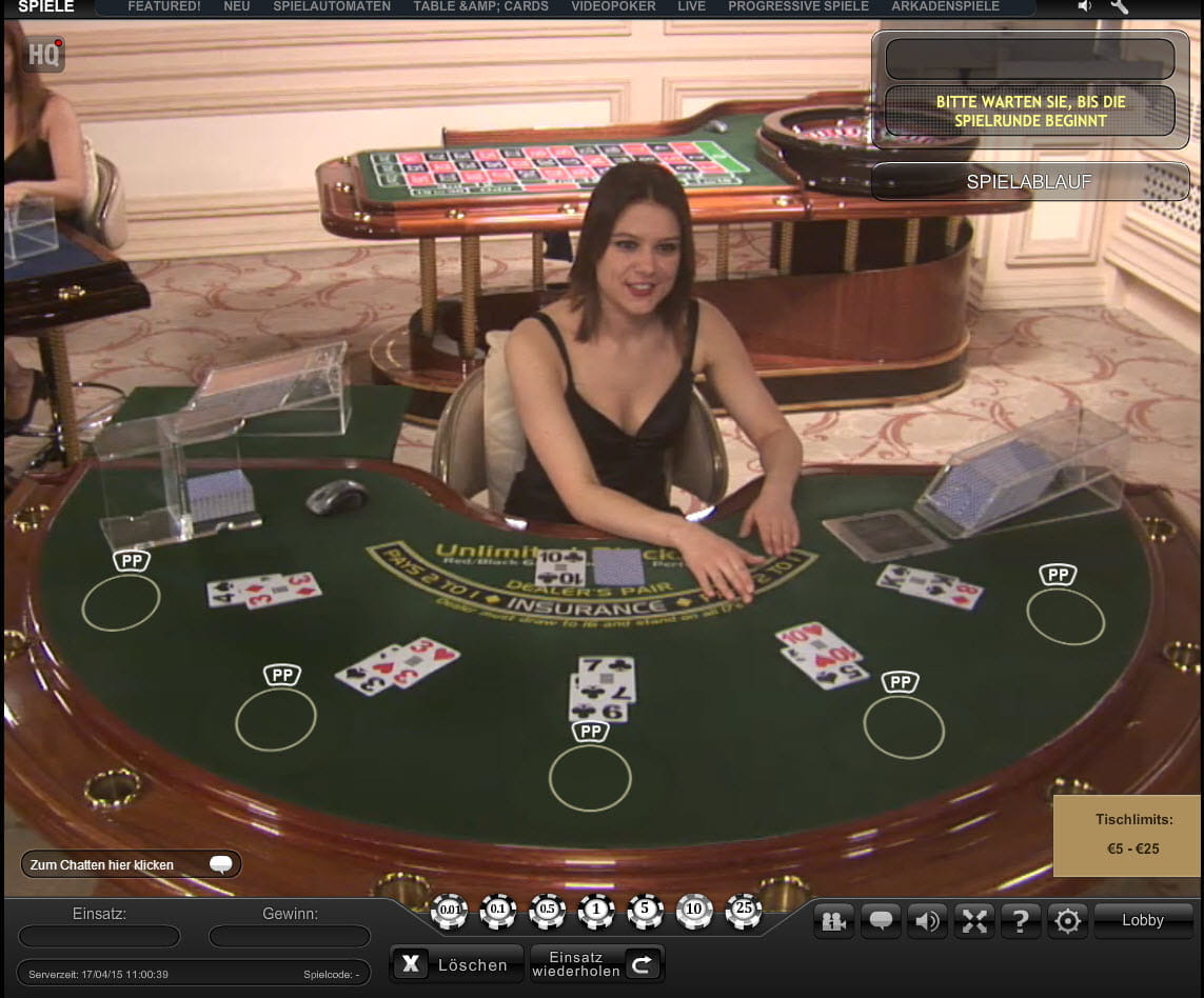 live casino tische