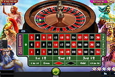 Spielszene beim Age of God Roulette