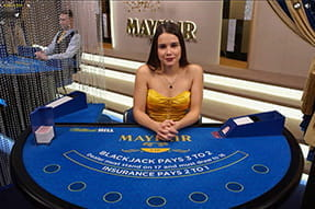 William Hill Live Casino Mayfair Blackjack