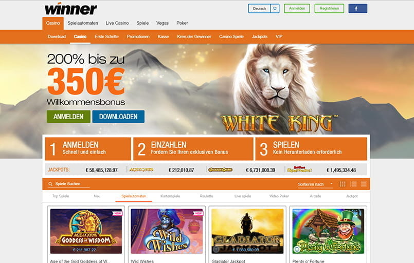 winner casino download