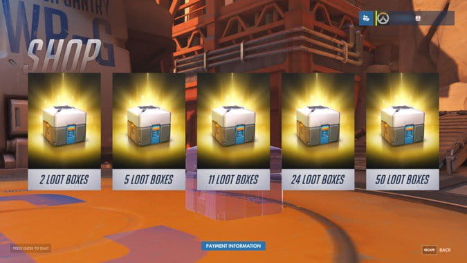 Lootbox-Pakete in Overwatch
