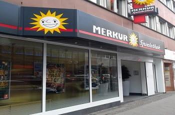Frontansicht einer Merkur Spielothek