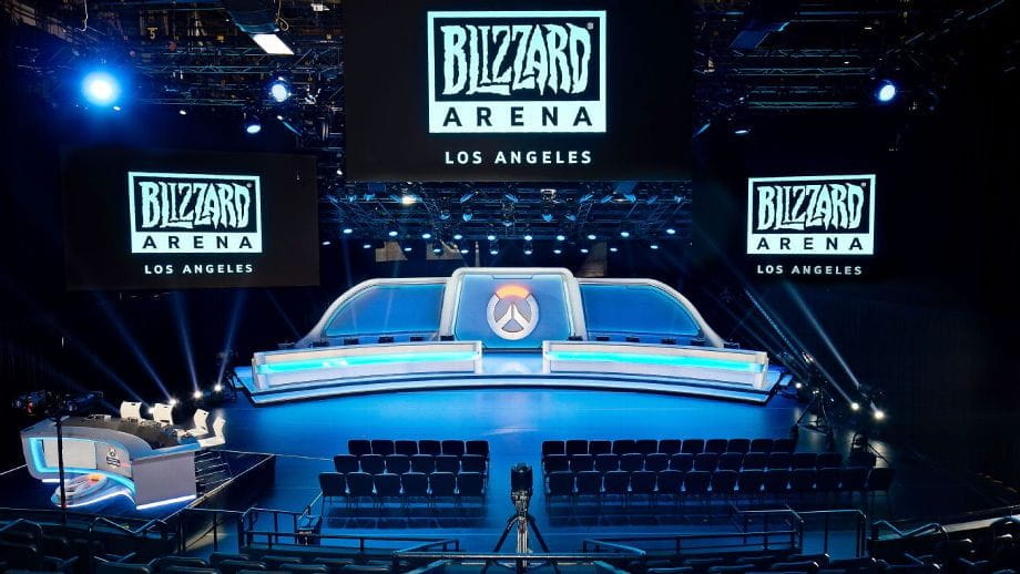 Innenansicht der Blizzard Arena in Los Angeles