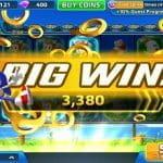 Screenshot von Sega Slots mit jubelndem Sonic