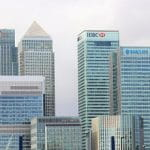 Skyline aus Bankenhochhäusern