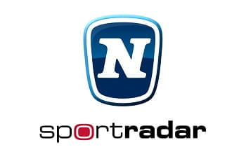 Novomatic und Sportradar Firmenlogos