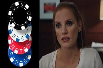 Jessica Chastain als Molly Bloom mit Pokerchips