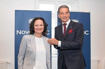 Eva Glawischnig und Harald Neumann von Novomatic