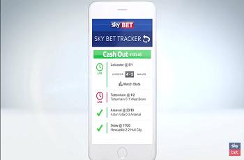 Screenshot der Sky Bet App auf dem Smartphone