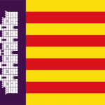 Die Flagge des Inselrats Mallorca.