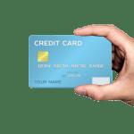 Zu sehen ist eine Hand, die eine Kreditkarte hält.