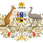 Das australische Nationalwappen zeigt ein Känguru und einen Emu