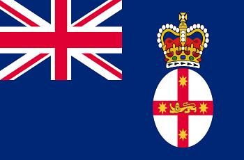 Die Flagge des Bundestaats New South Wales, Australien
