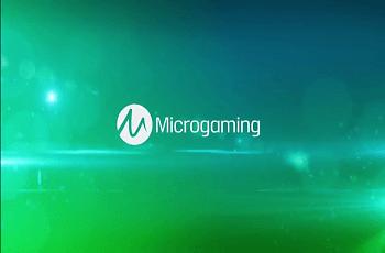 Das Logo des britischen Spieleentwicklers Microgaming