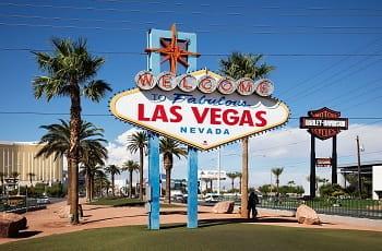 "Ein Foto des berühmten Stadtschilds ""Welcome to Fabulous Las Vegas"""