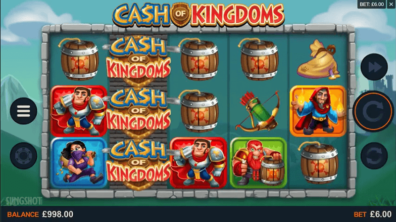 Ein Screenshot aus dem offiziellen Microgaming Trailer zu Cash of Kingdoms.