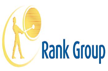 Das Gongman-Logo der britischen Rank Group.