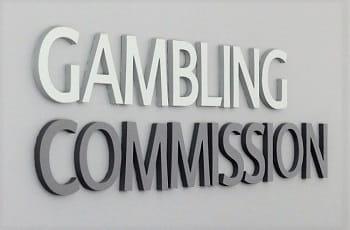 Das Eingangsschild der britischen Glücksspielkommission