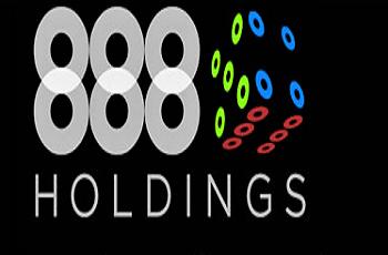 Das Logo des Glücksspielunternehmens 888 Holdings.